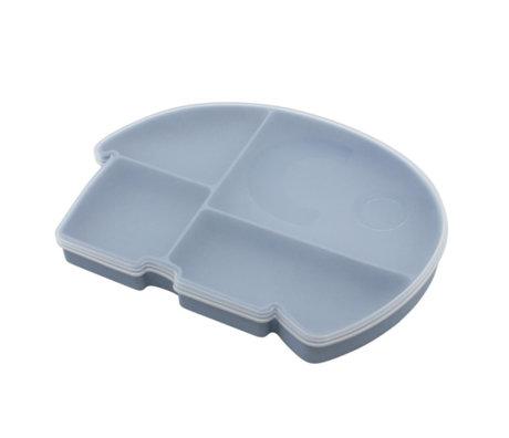 Sebra Lunchbox Fanto the elephant poeder blauw silecone 25x18,5x3cm