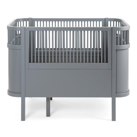 Sebra Bed baby & junior grijs hout 115-155x75,8x88cm