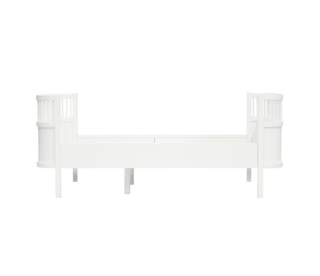 Sebra Junior Bed Grow Klassiek Wit Hout 165-204x90x68cm