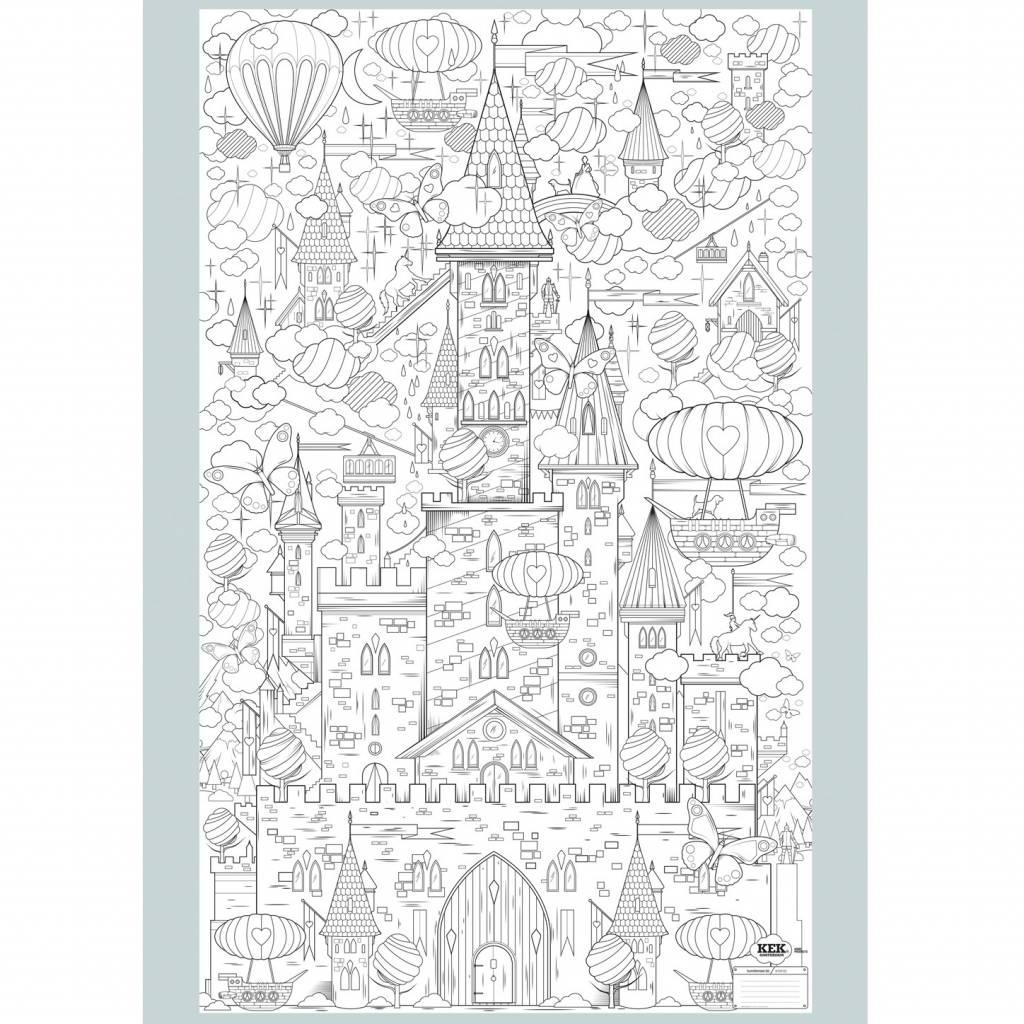 Kleurplaten Xxl.Kek Amsterdam Xxl Kleurplaat Papier Zwart Wit 91x150cm King Of My