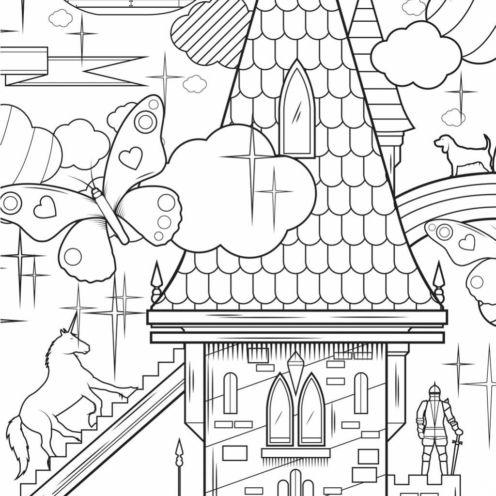 Kleurplaten In Om Huis.Kek Amsterdam Xxl Kleurplaat Papier Zwart Wit 91x150cm King Of My