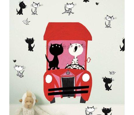 KEK Amsterdam Wall Sticker Fiep Westendorp Pim & Pom set multicolor 42x59cm