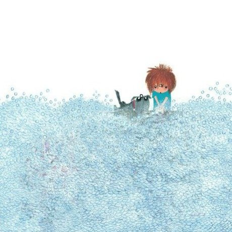 KEK Amsterdam Children's Wallpaper Washing the Dog multicolored fleece paper 292,2x280cm