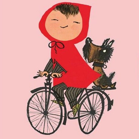 KEK Amsterdam Kinderbehang Riding my Bike pink multicolour vliespapier 243,5x280cm