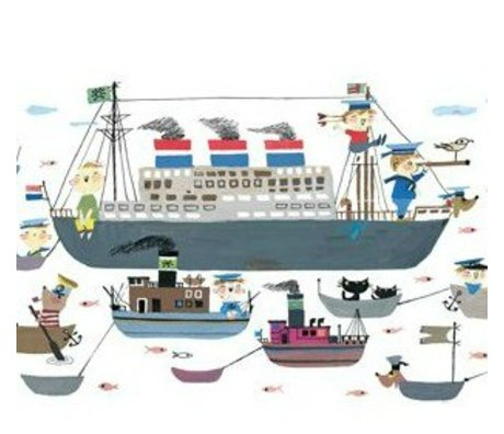 KEK Amsterdam Kinderbehang Holland America Line multicolour vliespapier 389,6x280cm