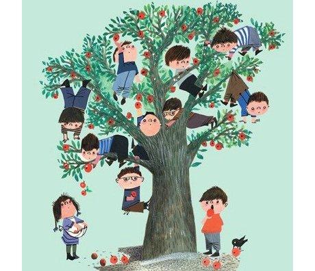 KEK Amsterdam Children's wallpaper Apple Tree green multicolour non-woven paper 243.5x280cm