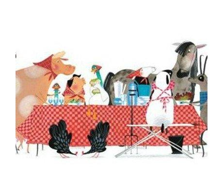 KEK Amsterdam Kinderbehang Bon Appetit multicolour vliespapier 389,6x280cm