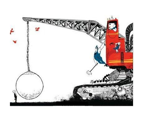 KEK Amsterdam Kinderbehang Wrecking Ball multicolour vliespapier 389,6x280cm