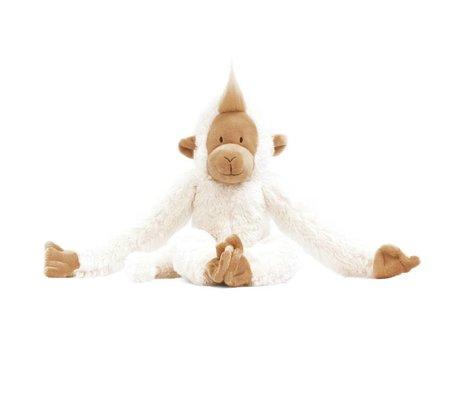 KEK Amsterdam Muursticker Hanging Monkey wit 29x17cm