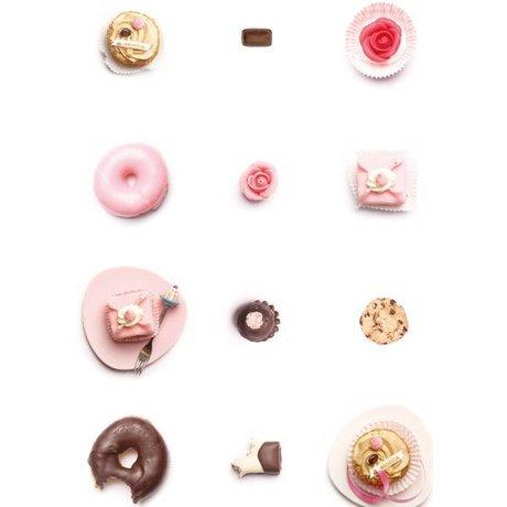 KEK Amsterdam Kinderbehang roze/wit/bruin Cakejes 146,1 x 280 cm 4m