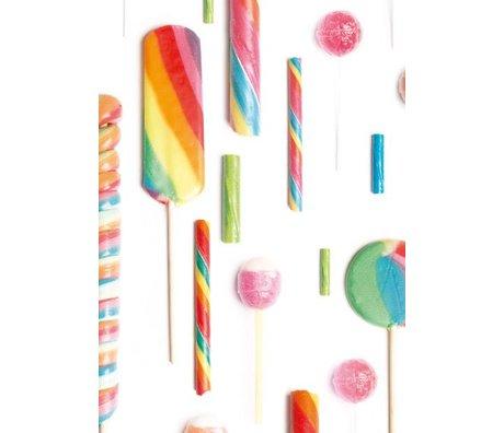 KEK Amsterdam Children's Wallpaper multicolour / white Lolly's 146.1 x 280 cm 4m