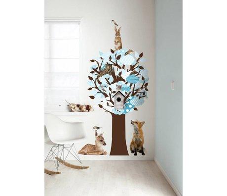 KEK Amsterdam Wall Sticker / Hallstand blue 95x150cm Softtone Tree wall film