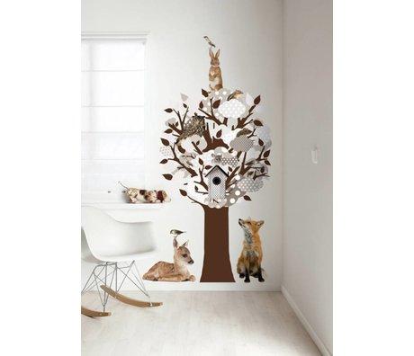 KEK Amsterdam Wall Sticker / gray coat rack 95x150cm Softtone Tree wall film