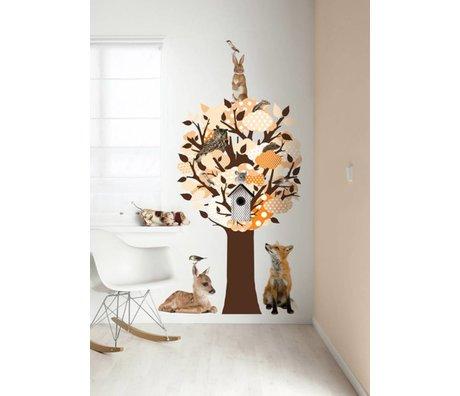 KEK Amsterdam Wall Sticker / Hallstand orange 95x150cm Softtone Tree wall film