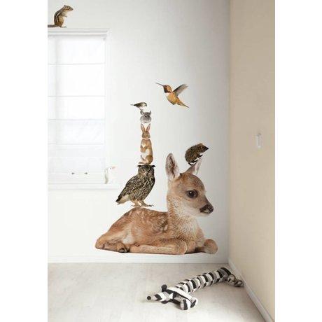 KEK Amsterdam Muursticker multicolour 108x91cm Forest Friends Set Deer XL muurfolie