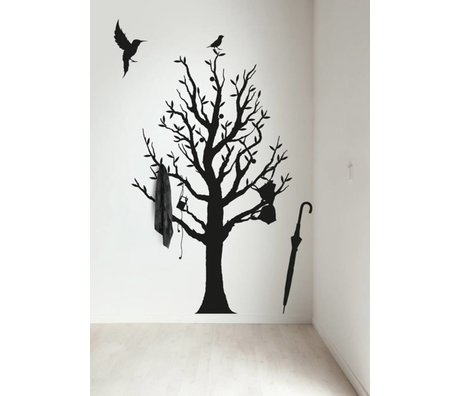 KEK Amsterdam Wall Sticker / coat rack black 117x190cm Fashion Forest wall film