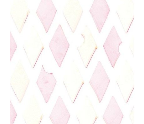 KEK Amsterdam Children's Wallpaper pink / white Bacon 146.1 x 280cm 4m