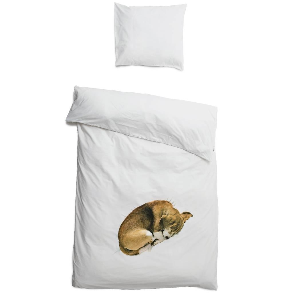 82da6171bbd Snurk Beddengoed Kinderbeddengoed Hond Bob wit katoen 140x220cm-60x70cm