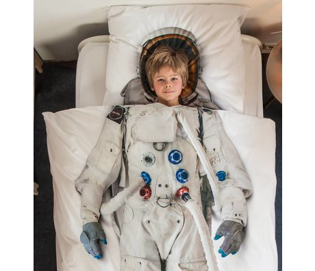 Snurk Beddengoed Children's Well Astro Nout-white cotton 140x220cm 60x70cm