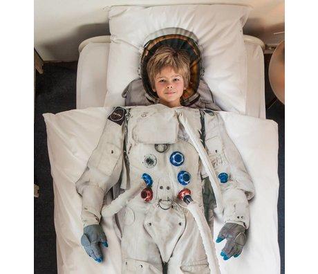 Snurk Beddengoed Kinderdekbedovertrek Astronout wit katoen 140x220cm-60x70cm