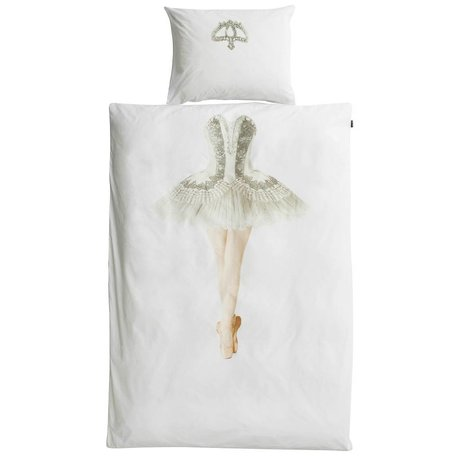 Snurk Beddengoed Children's duvet cover Ballerina white cotton 140x220cm-60x70cm