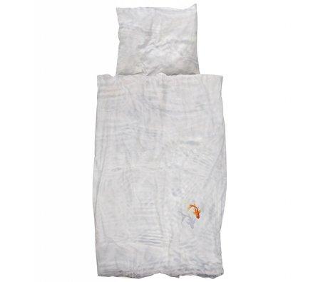 Snurk Beddengoed Children's Well Bassie fish white orange cotton 140x200 / 220cm-60x70cm