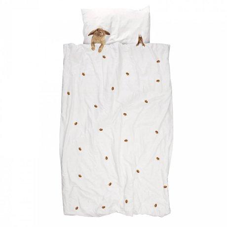 Snurk Beddengoed Kinderbeddengoed Furry Friends wit katoen 140x200/220cm-60x70cm