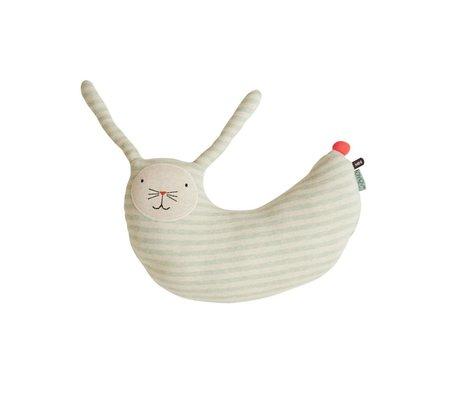 OYOY Cuddly rabbit Peter mint green white cotton 47x14x50cm