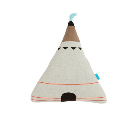 OYOY Children's Pillow Wigwam blue 43x12x46cm