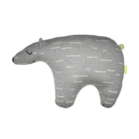 OYOY Cuddly polar bear Knut gray white cotton 52x14x34cm