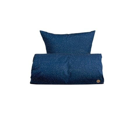 OYOY Children's Well-Starry blue cotton 100x140cm 45x40cm