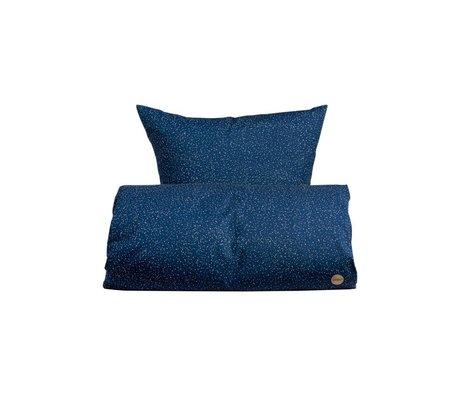 OYOY Kinderbeddengoed Starry blauw katoen 100x140cm-45x40cm
