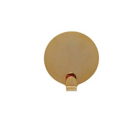 OYOY Haakjes Ping set van twee goud staal 5cm