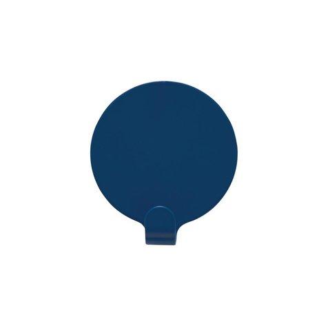 OYOY Haakjes Ping set van twee blauw staal 5cm