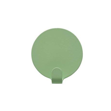 OYOY Haakjes Ping set van twee mint groen staal 5cm