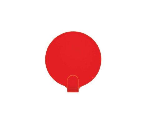 OYOY Haakjes Ping set van twee rood staal 5cm
