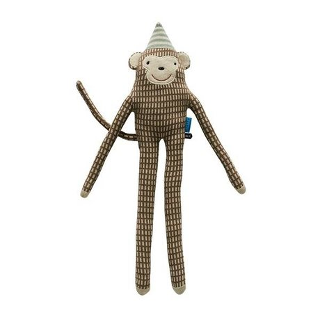 OYOY Cuddle mr. Nelsson monkey brown cotton 62x17cm