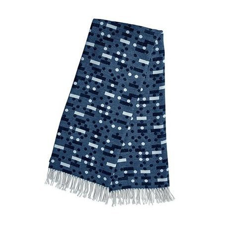 OYOY Kinderplaid Domino donker blauw katoen 127x170cm