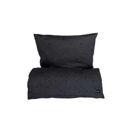 OYOY Children's Well-Dot black cotton 70x100cm45x40cm