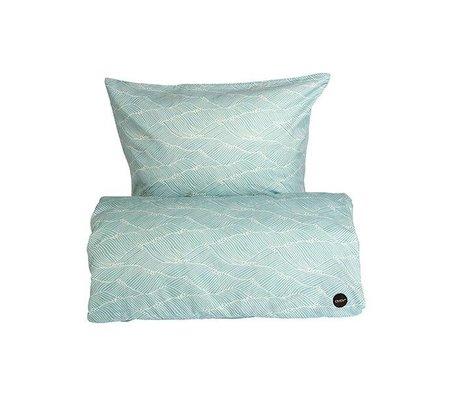 OYOY Children's Well-Poipoi blue cotton 140x200cm 63x60cm