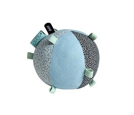 OYOY Children's ball puzzle blue cotton 10cm
