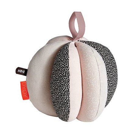 OYOY Children's ball puzzle black white pink cotton 13cm