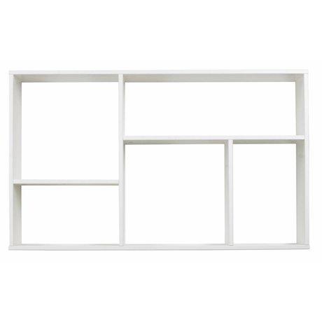 LEF collections Kinderletterbak / wardrobe 'Meike' white pine 60X100X18cm
