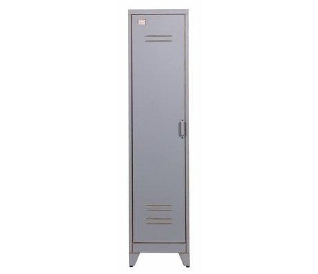 LEF collections Kinderkast Max 1 'gray metal 182x42x50cm
