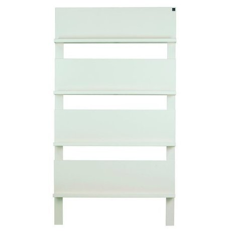 LEF collections Kinderrek '101' on the wall white brushed pine 178X80X11cm