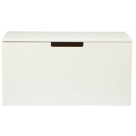 LEF collections Child Pointing Mountain Box 'Shack' white pine 42X80X42cm