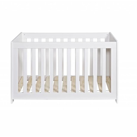 LEF collections Bedstead 'New Life' brushed white pine 66x125x79cm