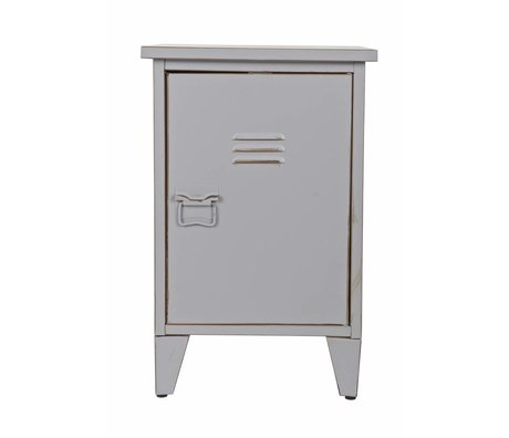 LEF collections Kids Night Table 'Max' right turning gray 40x35x60,5cm