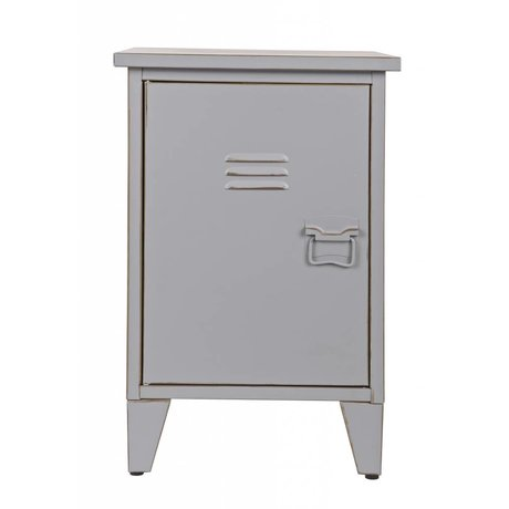 LEF collections Kids Night Table 'Max' counterclockwise gray 40x35x60,5cm