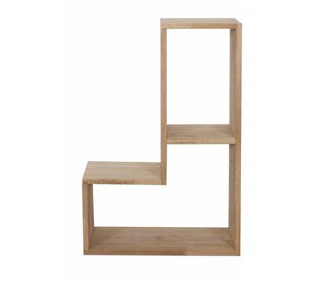 LEF collections Kinderstapelkast 'Tetris' bruin naturel eiken stapelkast 80x27x54cm